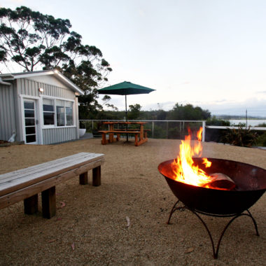 Outdoor Fire at Spring Beach Holiday House
